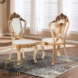 صندلی پلیمری مدل اعیان آبکاری طلایی