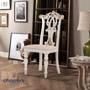 صندلی پلیمری مدل سپیدار چوبنی رنگ صدفی