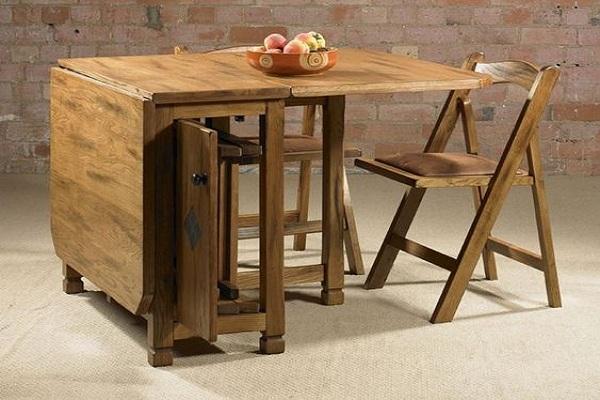 میز تاشو چوبی