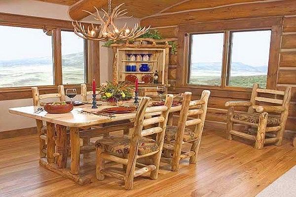 اتاق ناهارخوری دهکده ای